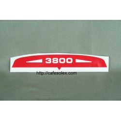 Air filter sticker solex 3800 Red