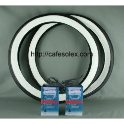 Pack 2Tires 16''FB+2tubes+ 2 Rooms Fund Solex