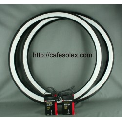 Pack 2Tires 24''FB+2tubes+ 2 Rooms Fund Solex